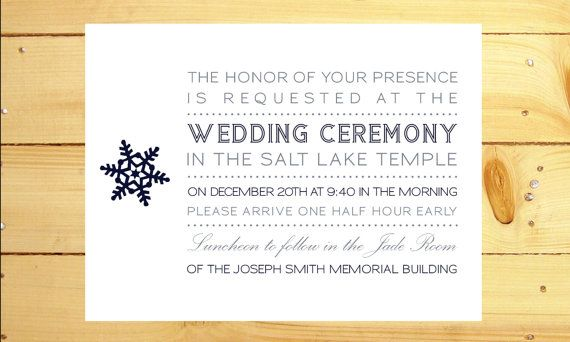 Lds Wedding Invitation Wording Sealing On Luncheon Ideas