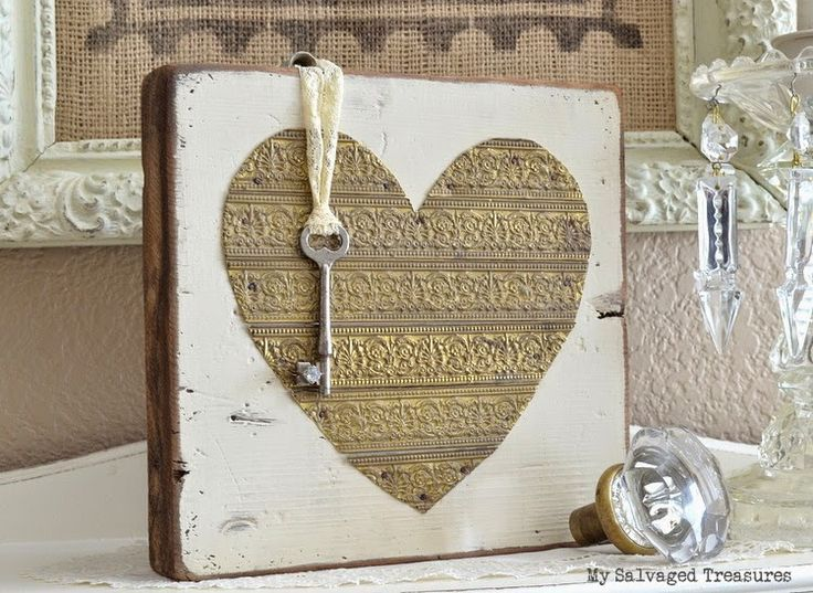 Rustic Key To My Heart Diy Home Decor Valentines Diy