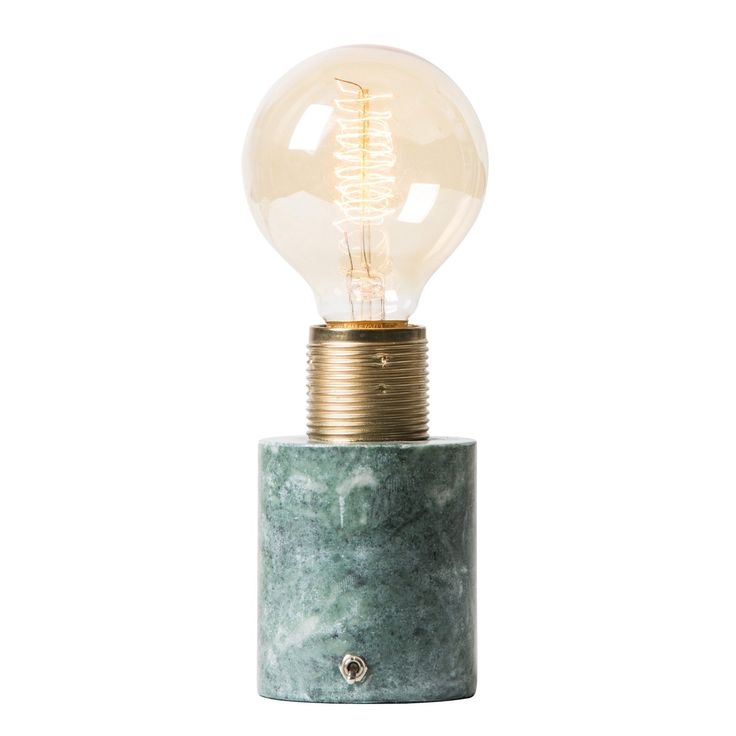 Sten bordlampe, grønn marmor i gruppen Belysning / Lamper / Nattbordlamper hos ROOM21.no (131731)