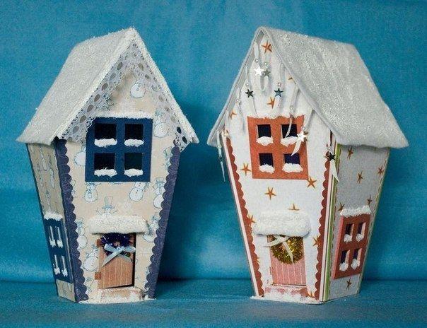 Мастерим красивые домики из картона