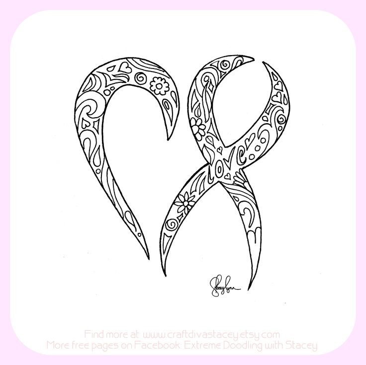 70 best images about brain cancer ribbon tattoos on for Cancer ribbon coloring page