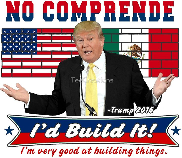 Trump 2016 Build the Wall Original Digital Art by TeeCreations