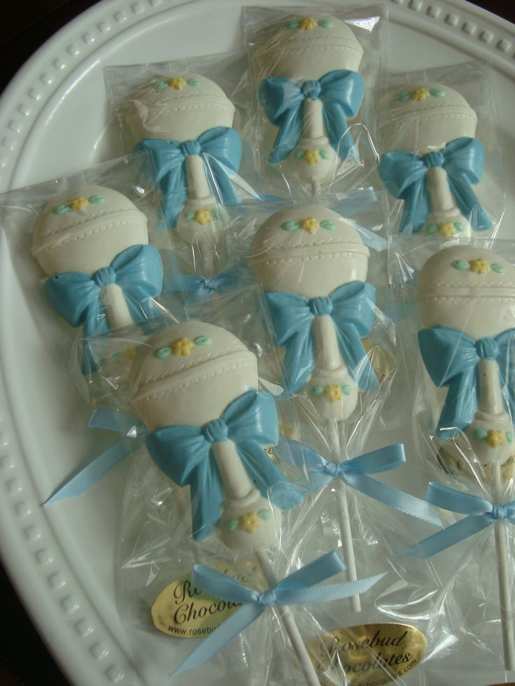 chocolate baby rattle lollipops baby shower favors