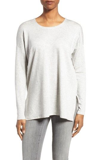 Free shipping and returns on Eileen Fisher Stripe Stretch Tencel® Top (Regular & Petite) at Nordstrom.com. A slouchy top with slit sides gets lived-in comfort from a Tencel jersey knit with plenty of stretch.