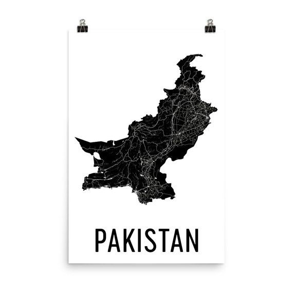 Pakistan Map, Map of Pakistan, Pakistan Art, Pakistani Decor, Pakistani Art, Pakistan Print, Pakistan Poster, Pakistan Wall Art, Gifts