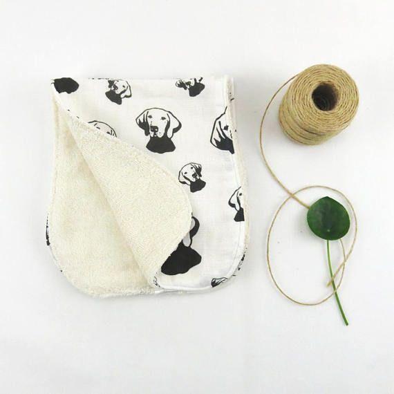 Vizsla Baby Burping Cloths Organic Muslin And Organic Terry