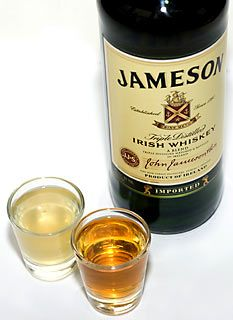 pickle back shot. shot of jameson, shot of pickle juice.. if you love pickles you'll LOVE this!! mmmmmmm