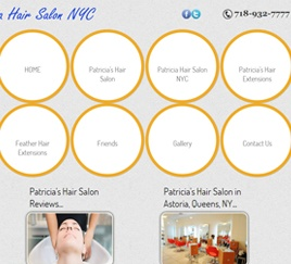 Patrica Hair Salon NYC.... Website built in HTML5