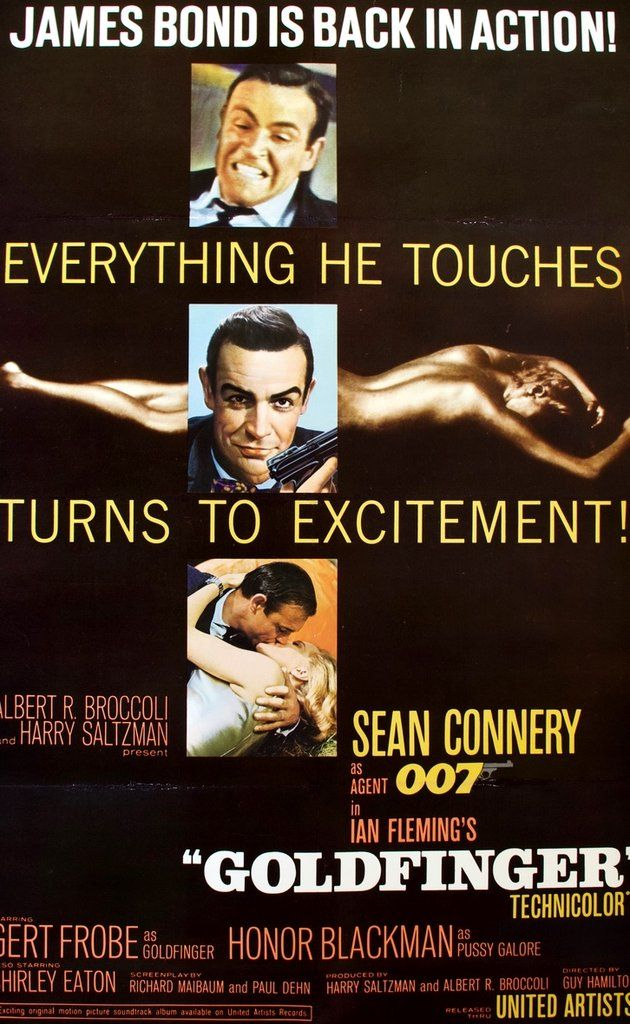 Goldfinger (1964) Original Linen-Backed One-Sheet Movie Poster