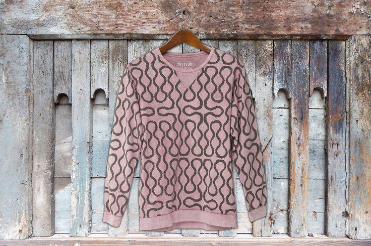 ROPE SWEATER MAROON Zuttion Men's #zuttionmens #washedout #vintagemens #mensclothing #mensfashion #ltdedition #fashiongraphics
