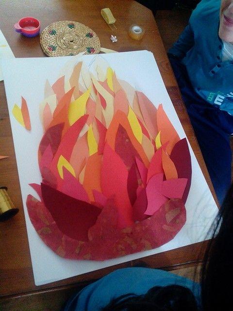Manualidad Fuego Con 10 Colores Aurora Pinterest