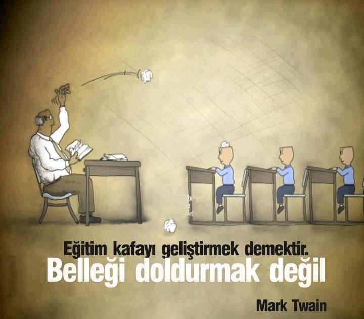 """""""Eğitim kafayı geliştirmek demektir, belleği doldurmak değil."""" Mark Twain #kişiselgelişim #şahsiyeteğitimi"""