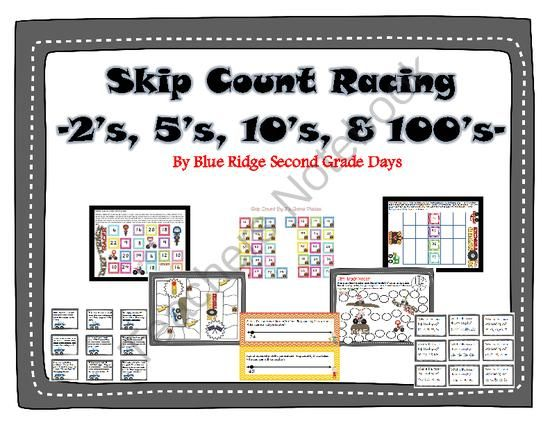 Skip Count Racing - One lucky winner will win my skip count racing pack that includes: A variety of skip counting activities for 2's, 5's, 10's and 100's including differentiated activities for guided math groups or math stations with a cute racing theme: Activities included: Skip Counting By 2's Bump Skip Counting By 2's Bump With 2 Dice Skip Counting By 3's Bump Skip Counting By 5's Bump Skip Counting By 10's Bump Skip Counting By 20's Bump Skip Counting By 100's Bump Count by 2's Game…