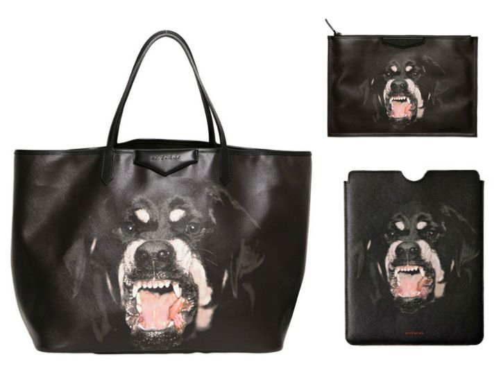 Givenchy AW12 -Rottweiler-Tote-Shoulder-bag-iPad-case-and-wristlet