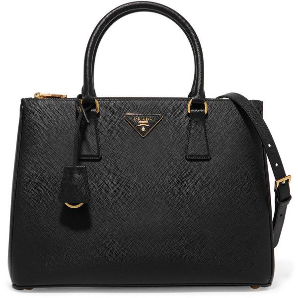 Prada Galleria large textured-leather tote ($2,060) ❤ liked on Polyvore featuring bags, handbags, tote bags, prada tote bag, handbags totes, shoulder strap purses, top handle handbags and structured tote bag