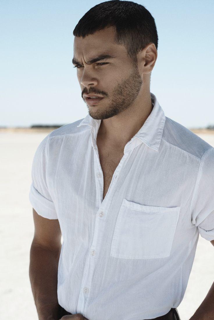Nathan wears shirt UNIQLO and pants Dolce & Gabbana.