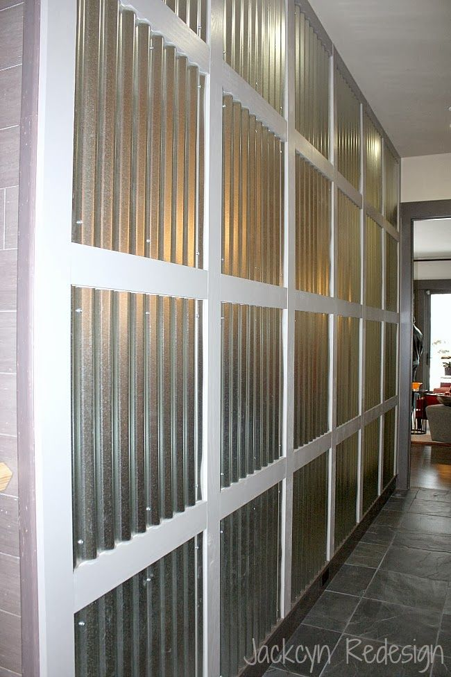 HGTV Dream Home - A Study in Squares and Rectangles - how awesome is this corrugated metal wall!