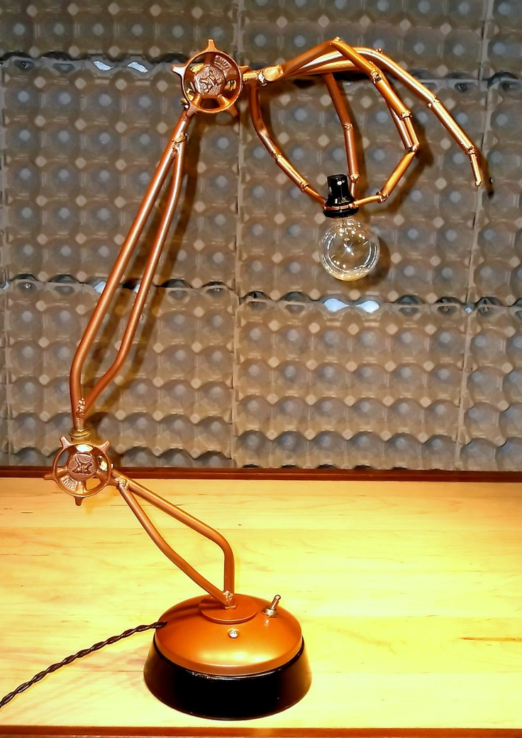 Skeleton Hand Articulating Desk Lamp Table Light Steampunk