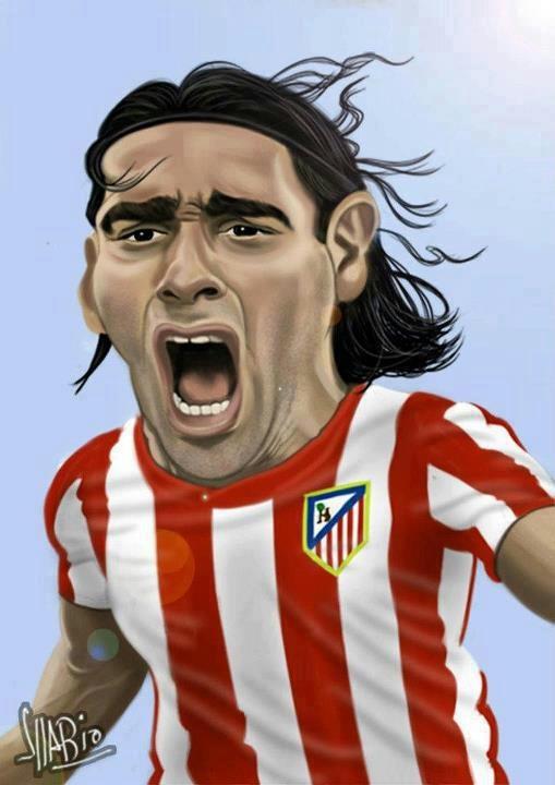 Caricatura de Radamel Falcao. @Gabriela L. De Paepe Marangon Falcao
