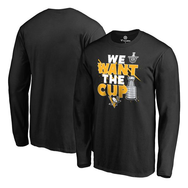 Pittsburgh Penguins Fanatics Branded 2017 NHL Stanley Cup Playoff Participant Blue Line Long Sleeve T-Shirt - Black - $31.99