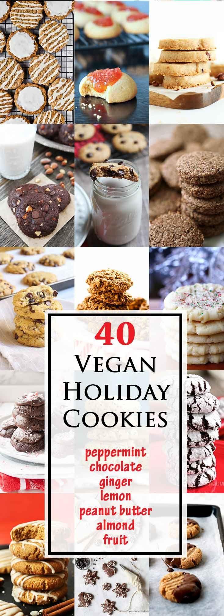 40 Best Vegan Cookies for the Holidays #vegan #glutenfree | Vegetarian Gastronomy | www.Vegetariangastronomy.com