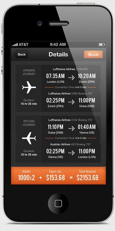 UI Design: Airwala App / flight travel checker