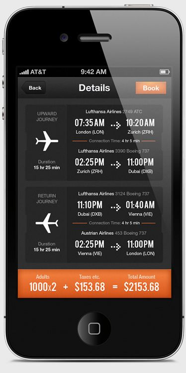 UI Design: Airwala App / flight travel checker