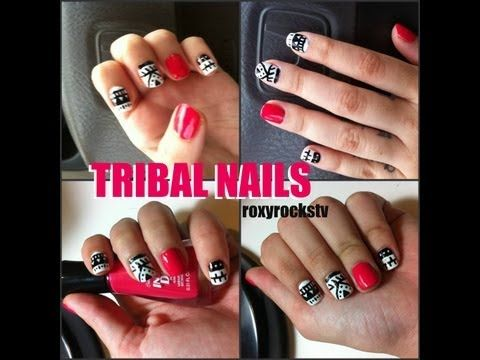 Tribal Nails Tutorial - http://www.nailtech6.com/tribal-nails-tutorial/