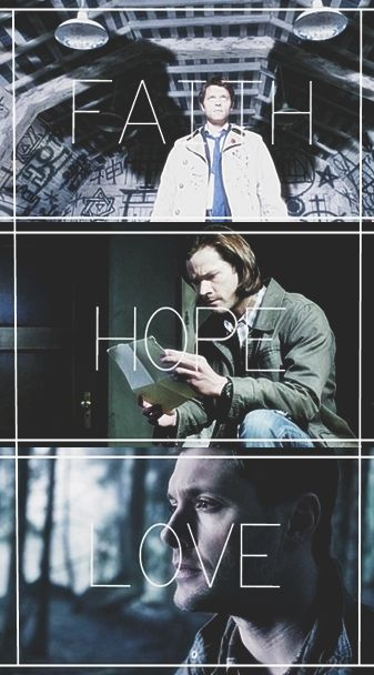 ✔ Wallpaper Lockscreen Cass, Sam & Dean (Supernatural)