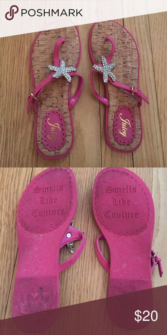 Authentic Juicy Couture Pink Starfish Sandals These were worn 4-5 times and are in great condition. Juicy Couture Shoes Sandals