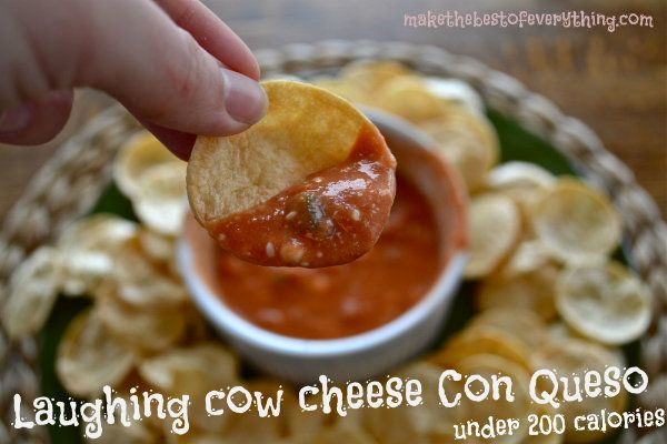 Make Laughing Cow Cheese Con Queso and serve it with Special K cracker chips. What an AMAZING snack for under 200 calories!!