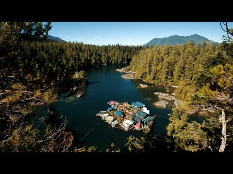 artists build floating freedom cove near vancouver island