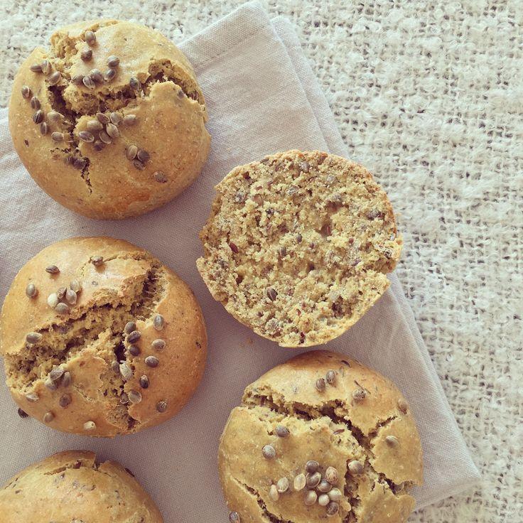 Bowl & spoon - Petits pains sans gluten aux graines de chanvre