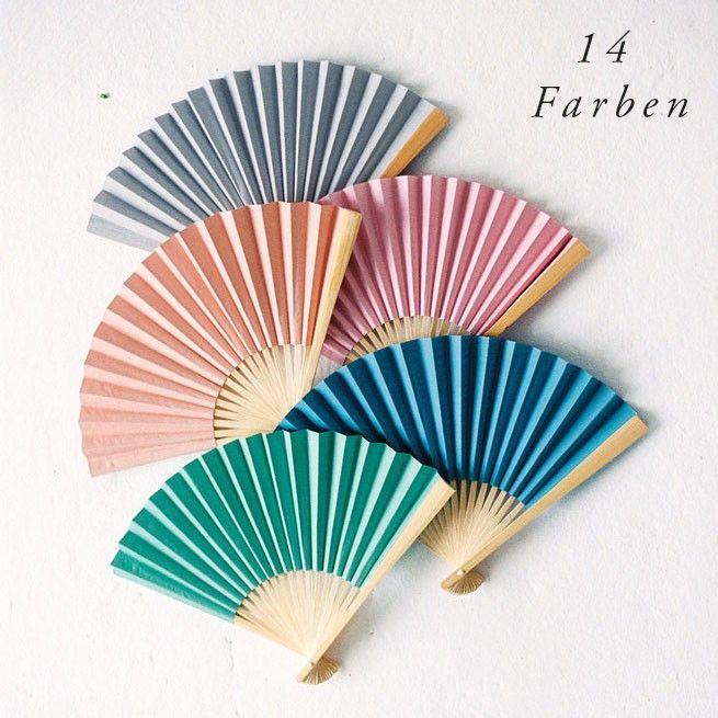 10er Set Fächer in 14 Farben 001
