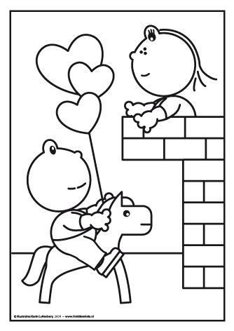Frokkie brengt een serenade aan Lola die bovenop het balkon van het kasteel staat.