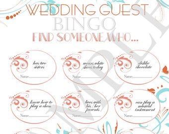 Wedding reception games customized wedding game by ElinaWedding