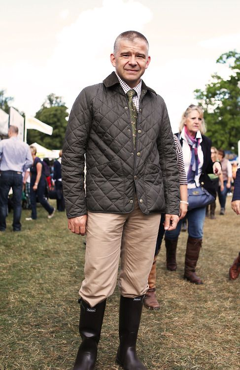 'Here\u2019s Ian looking fab at Burghley Horse Trials in his Barbour Quilted Jacket.'