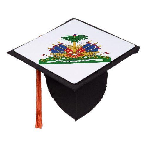 Coat of arms of Haiti Graduation Cap Topper | Zazzle.com - #graduation #haiti #topper #zazzle -