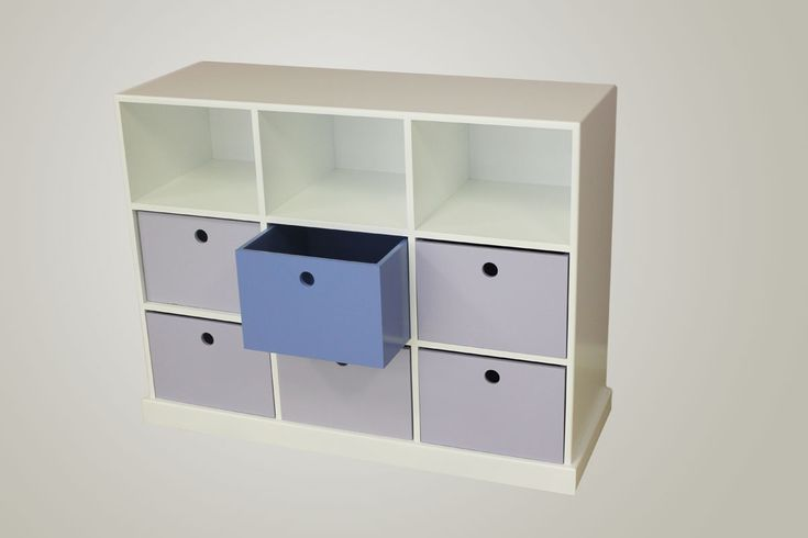 This 3 tier, 9 division pigeon hole unit is both funky, and functional.
