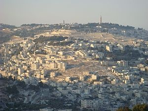 Mount of Olives, Jerusalem, where Jesus ascended and where he will return