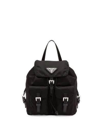 fd60ced944cd42 Prada Vela Mini Crossbody Backpack Bag, Black (Nero) #Pradahandbags ...