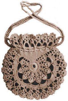 thread crochet patterns | Lacey Handbag Antique Thread Crochet Pattern - KarensVariety.com