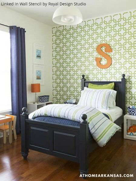 Bedroom Decor For Boys 124 best nurseries + kid's rooms stenciling images on pinterest