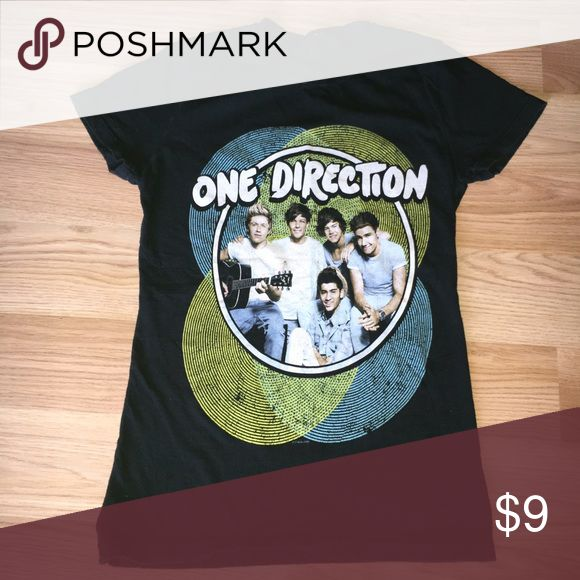 One Direction Tee Shirt Worn only a couple of times. Like new condition. Tag was torn off due to itchiness. Tops Tees - Short Sleeve