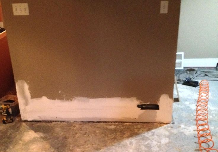 12 inches of drywall  replaced where water reached