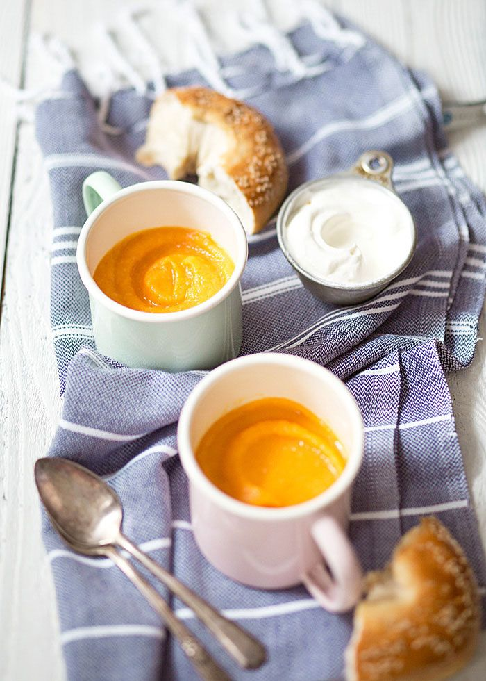 Zuppa di patate dolci e mela arroste - Il Cavoletto di BruxellesIl Cavoletto di Bruxelles