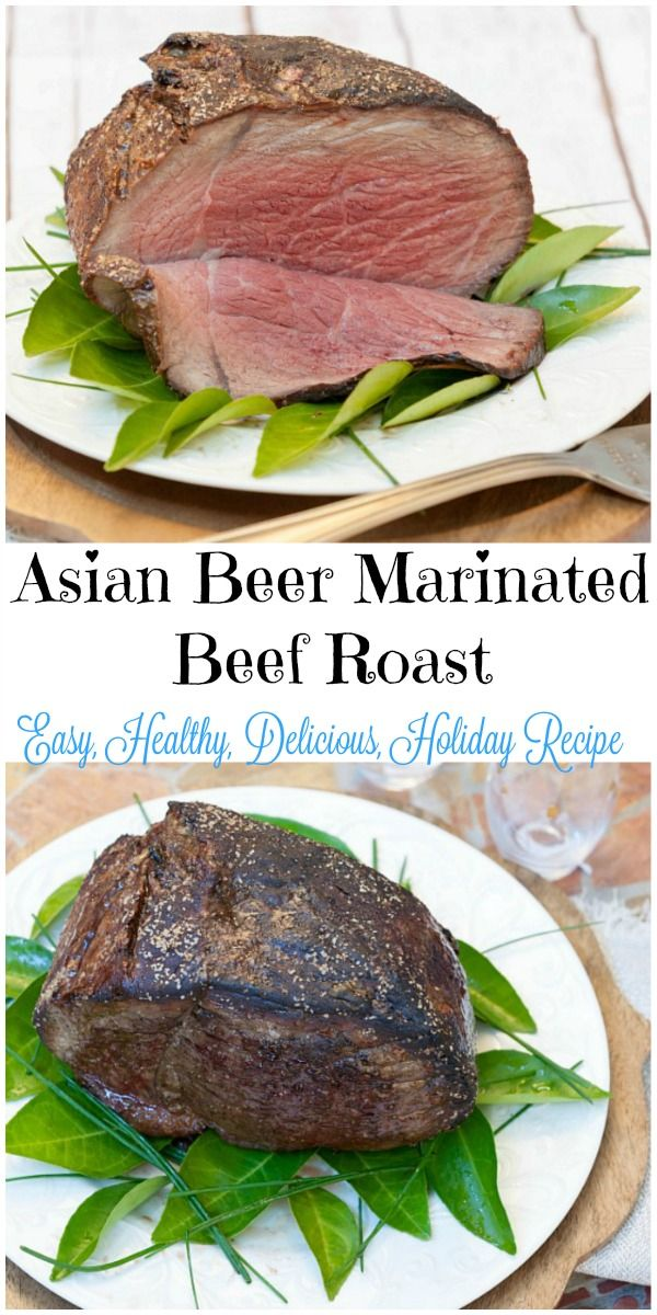 You will want to drink the gravy.  So Good! Asian Beer Marinated Roast Beef - Lean cut perfect for Christmas #SundaySupper #RoastPerfect #ad @certangusbeef
