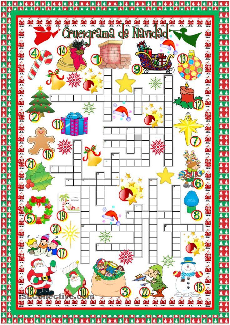 Crucigrama de Navidad | Clase de español con Romina ...