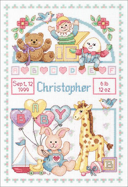 Cross Stitch Craze: Birth Record for Baby (cross stitch)