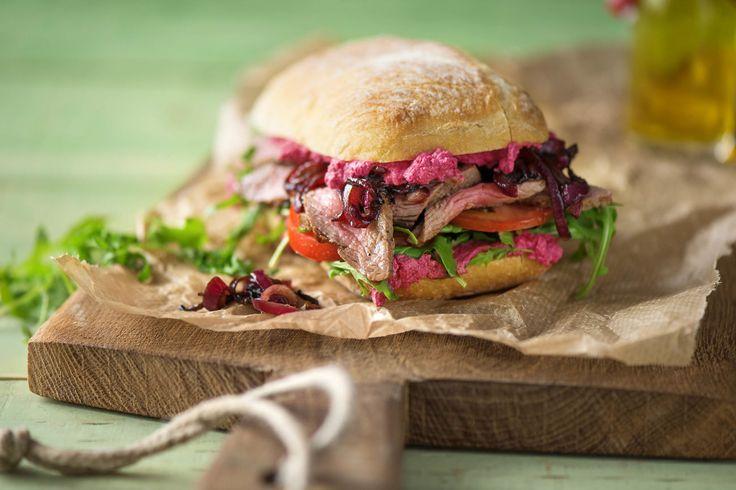 Steak and Caramelised Onion Burger Recipe | HelloFresh
